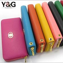 ATO-W brand 2014 new fashion zipper women wallet,designer long female purse clutch,high quality zip leather black women bag-40(China (Mainland))