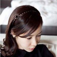 T299 Hair jewelry accessories Korean ladies Fan children headband thin metal hair bands issuing Clover