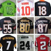 jersey american football men,Jimmy Graham,Ben Roethlisberger,Lance Briggs,Eli Manning,Rob Gronkowski,Matt Ryan,Charles Woodson
