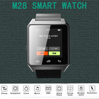 "Freeshipping  Newest M28 Bluetooth Smart Watch 1.4"" screen connecting with Android smart phone  by Bluetooth hot sale"