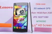 "Lenovo S860w+ 3G network Octa core MTK6592 GPS 2G RAM 16G ROM 5.5"" IPS 1920*1080 13MP smart phones"