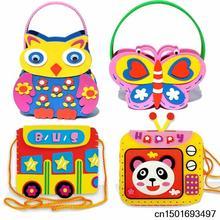 Children's hand- painted color stereoscopic 3d cartoon paste eva foam diy sewing material bag bag handbag(China (Mainland))