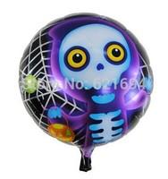 Halloween skeleton party balloons Inflatable Toys 20pie/lot  party supplies ballons decoration princess ball aniversario baloes
