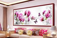 """Wall Home Decoration Cross Stitch 3D """" Butterflies and orchids """" Cross-Stitch Kit , DIY Cross Stitch Sets,Ki t"""