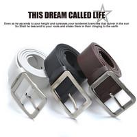 Retail 1 piece Men's Fashion Faux Leather Premium Shape Metal Strap Ceinture Buckle Belt free shipping