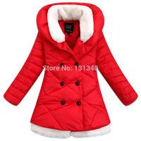 2014 new Girl's Winter jackets  children's Coats winter warm Outerwear & Coats 80% down +20%cotton-padded jackets
