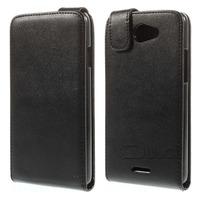 For HTC Desire 516 Leather Case, Cheap Vertical Magnetic Flip Leather Case Cover for HTC Desire 516 Dual Sim - Black