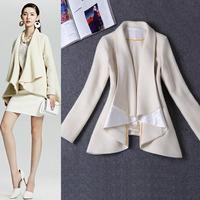 Fall 2014 Women Long Sleeve tweed Short coat  140917HU01