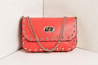2014 small European-style shoulder bag women's handbag leisure wild rivet chain handbag Messenger bag small bag woman bag phone