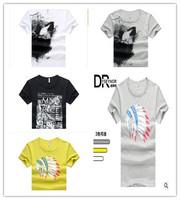 New 2014 Summer Famous Brand Men Casual Cotton t-shirt Fashion O-neck Short Sleeve Men's t-shirt calvin Good Quality M-2XL size