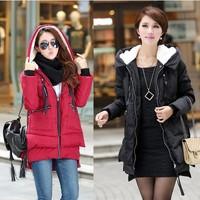 2014 new fashion women's Warm Hoodie Coat Parka Winter Coat Outwear Down Jacket 4 colors 4 sizes #C49704