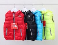 New wholesale Boy sport  Down baby clothing vest winter coat  purple pink  YXF201491702