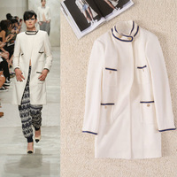 Winter 2014 Women Brand Design Long Sleeve Wool Coat  140917HU04