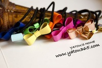 T309 Hot fashion Jewelry vintage metal color fluorescent hollow bow headband hair jewelry accessories