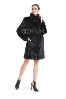 Winter Genuine Natural Stand-up Collar Shear Mink Coat Jacket Women Fur Outerwear Plus Size Parka Lady Russia Garment QD70731