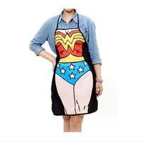 TB050 Sleeveless apron Wonder Woman Apron Funny Hero Bib for Home Kitchen Party Novelty Gifts 56*72cm