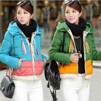 2014 new fashion winter coat women's Warm Hoodie Coat Parka  Outwear Down Jacket 3 colors#C49705