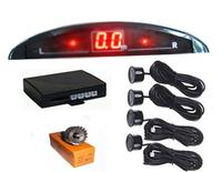 Wholesale Car Small Crescent LED Lamp Display Parking Sensor Car Buzzer LED Reversing Aid System 4 Sensors