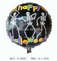 """HAPPY Halloween ""Skeleton ballons Print Party Balloons Decoration Inflatable helium Halloween toys Foil balloon balloon baloes"
