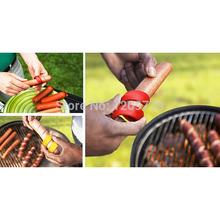 2pc/LOT Manual Fancy Sausage Cutter Spiral Hot Dog Cutter Slicer kitchen gadget  T1093 P HND(China (Mainland))