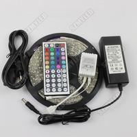 5M RGB led Strip 3528 SMD 60 Leds /m 300 Led Light Ribbon Lamp+ 44key IR Remote Controller+ 12V 3A Power Supply, Free shipping
