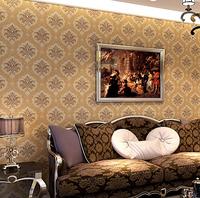 10M European Luxury 3D Embossed Damascus Reflective Wallpaper Waterproof Bedroom Wall Painting Living Room Papel De Parede Roll