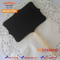 200 Pcs Rustic Fancy Shield Mini Chalkboard Cake Topper for Wedding Decor