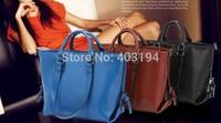 2014 Fashion Vintage Motorcycle Bag Women zipper Suede Handbag Solid Brand Design Tote Bag Femme Messenger Bags Black WD9