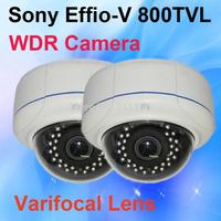 Home Security Camera Vandalproof Dome SONY Effio V 800TVL OSD Menu WDR infrared Analog CCTV Camera