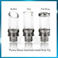 510 Drip tips Glass Stainless Steel Drip tip Mouthpiece e cigarette tank drip tip for ego Kanger protank Aspire Atomizer
