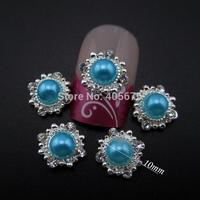 MNS573  Glitter 2014 new nail decorations pearl nail gems 3d alloy nail jewelry 50pcs