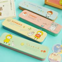 Handmade cartoon design pencil box,pen case,DIY metal pencil case,kawaii stationery,Free shipping(tt-2000-2)