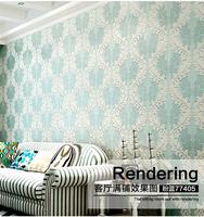 10M European Style 3D Embossed Pattern Damascus Living Room Wallpaper Gold Blocking Glitter Non-woven Fresco Bedroom Wall Paper