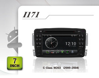 BENZ old class w203 (2000-2004) Android 4.0 OS CAR DVD with A8 chip GPS, BT IPOD,PIP,20V-CDC,WIFI, 3G, free map/ tv antenna
