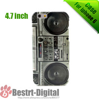 New TPU soft Boom Box for iphone 6 case, 4.7 inch phone case cover shell