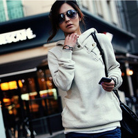 Sport Clothing Sweatshirt Hoody Women Winter Clothes Casual Solid Color Long Sleeves Femininas Tracksuit Casual 2015 NZH006