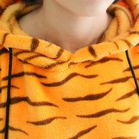 Lovers Set Sleepwear  Soft Coral Fleece Lovers Home Wear Pajamas Set  tiger cartoon no shoes