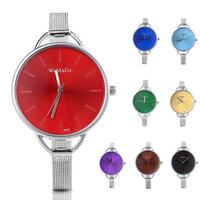 Red/Blue/Purple/Black/Brown/Gold/Green Stylish Women's Fashion Casual Minimalist Watch Women Stainless Steel Strap Wristwatches