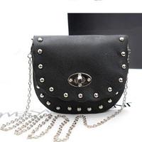 Hot New 2014 summer bag cartoon cute female rivet leather handbags mini shoulder bag Messenger bag woman