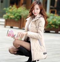 Wholesale new fashion 2014 winter women coats long Design patchwork thicken hooded down parkas plus size