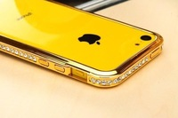 2014 3pcs/lot New Reliable Diamond Metal Frame For iphone 5c Sparkle Aluminum Alloy Bumper For iphone 5c