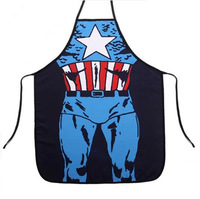 TB010 Sleeveless apron New Novelty Captain America Batman Creative Kitchen Cooking Party Dress Fun lovers  funny gift 56*72cm