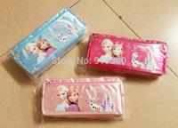 New Arrivals Anna Elsa Frozen School Pencil Bags Boys Girls Students Stationery Pen Cases Pouch Pink Blue Rose 12pcs/lot  #PB3
