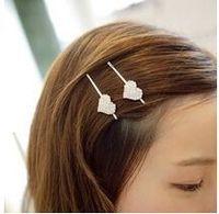 T310 Hot Fashion 2014 new Korean jewelry new clip rhinestone tiara crown top edge clip hairpin love barrettes