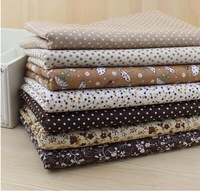 Brown Series 7 Assorted Pre Cut Charm Quilt Fabric Squares DIY 100% Cotton for Fat Quarters 50cmx50cm Free Shipping