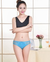 4PCS sexy Lady's Cotton Seamless Panties Women Letter Briefs women's G-strings free shipping