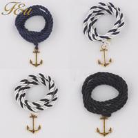 65.0cm Length Bracelet Anchor Charm 4 Wraps Simple Handmade wrap bracelets bangles for woman #1827