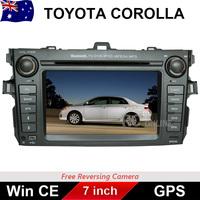 7.0 inch Car DVD PLAYER GPS Radio Stereo head unit For TOYOTA COROLLA 2006-2011 IPOD/Bluetooth/MP3/Win CE 6.0/DVD