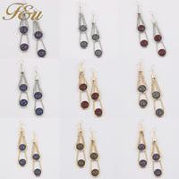 2014Fashion Austria Crystal stone earrings Women wholesale #1272