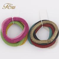Hot Selling Fashion Bracelets Bangles for Women Elastic Geometric Created Metal Bangles  #809